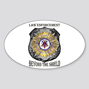 Beyond the Shield Oval Sticker