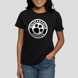 Weimaraner Rescue Women's Dark T-Shirt