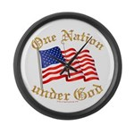 One Nation Under God Large Wall Clock