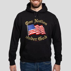 One Nation Under God Hoodie (dark)