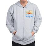 Global Warming Sun Zip Hoodie