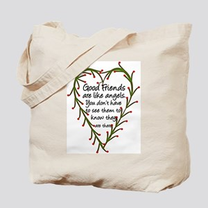 Friends Are Like Angels Tote Bag