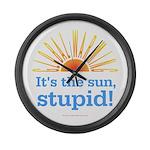 Global Warming Sun Large Wall Clock