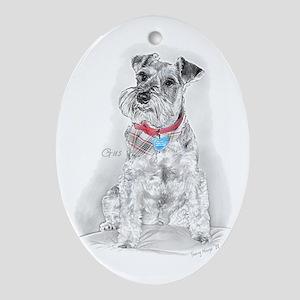 Schnauzer Gus Oval Ornament