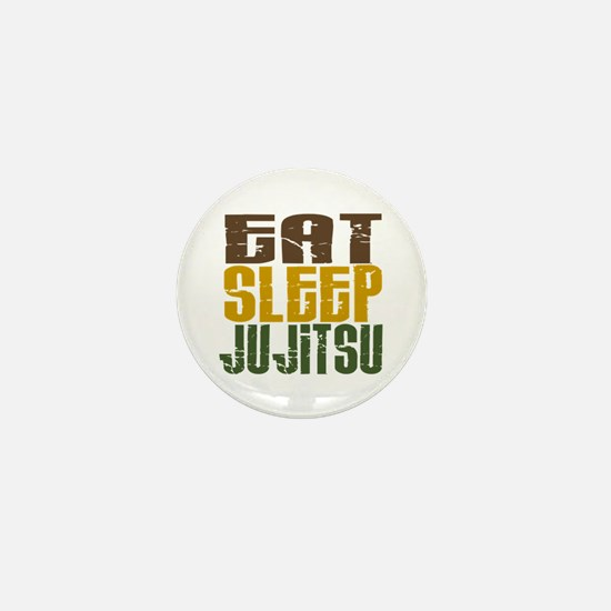 Eat Sleep Ju Jitsu Mini Button