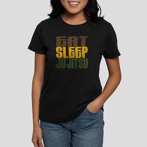 Eat Sleep Ju Jitsu Women's Dark T-Shirt