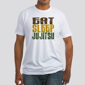 Eat Sleep Ju Jitsu Fitted T-Shirt