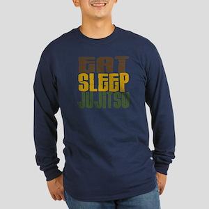Eat Sleep Ju Jitsu Long Sleeve Dark T-Shirt