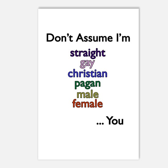 Don't Assume Postcards (Package of 8)