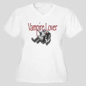VAMPIRE LOVER Women's Plus Size V-Neck T-Shirt