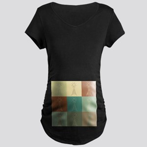 Amateur Radio Pop Art Maternity Dark T-Shirt