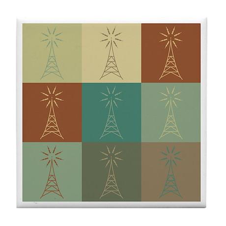 Amateur Radio Pop Art Tile Coaster