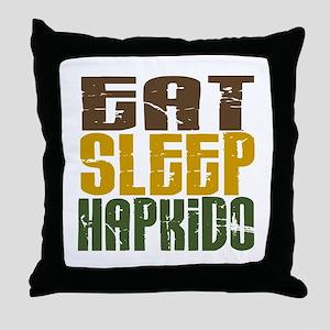 Eat Sleep Hapkido Throw Pillow