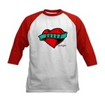 Twilight Bella Heart Tattoo Kids Baseball Jersey