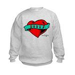Twilight Bella Heart Tattoo Kids Sweatshirt