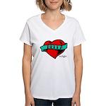 Twilight Bella Heart Tattoo Women's V-Neck T-Shirt