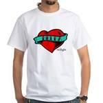 Twilight Bella Heart Tattoo White T-Shirt
