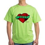 Twilight Bella Heart Tattoo Green T-Shirt