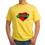 Twilight Bella Heart Tattoo Yellow T-Shirt