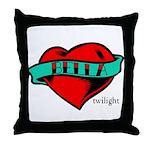 Twilight Bella Heart Tattoo Throw Pillow