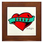 Twilight Bella Heart Tattoo Framed Tile