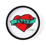 Twilight Bella Heart Tattoo Wall Clock