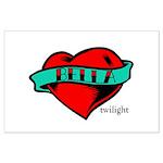 Twilight Bella Heart Tattoo Large Poster