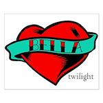 Twilight Bella Heart Tattoo Small Poster