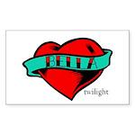 Twilight Bella Heart Tattoo Rectangle Sticker