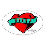 Twilight Bella Heart Tattoo Oval Sticker (10 pk)
