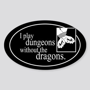Dungeons Without Dragons Sticker (Oval)