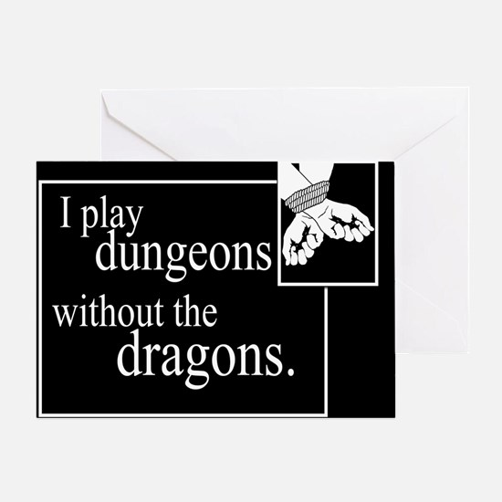Dungeons Without Dragons Greeting Card