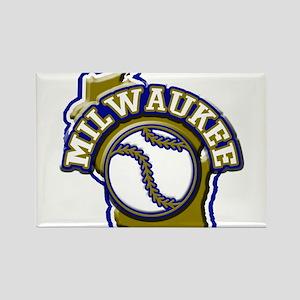 Milwaukee Baseball Rectangle Magnet