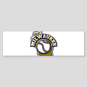 Milwaukee Baseball Bumper Sticker