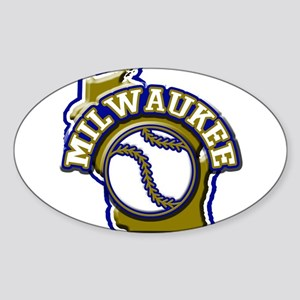 Milwaukee Baseball Oval Sticker
