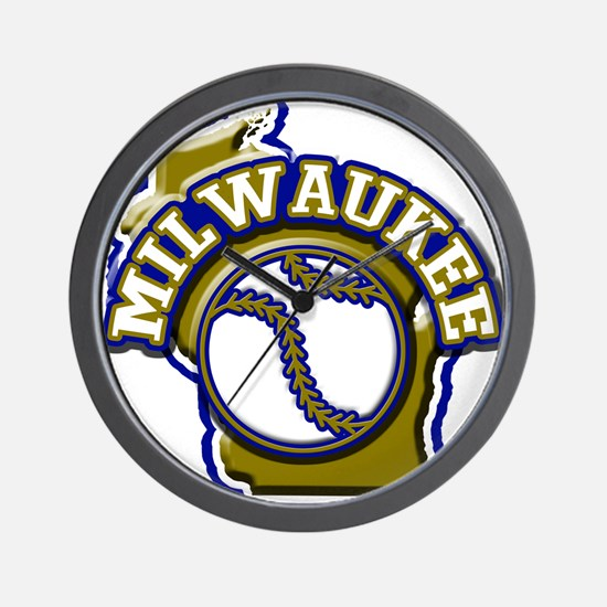 Milwaukee Baseball Wall Clock