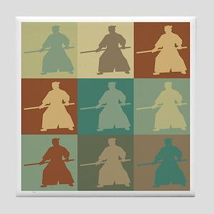 Aikido Pop Art Tile Coaster