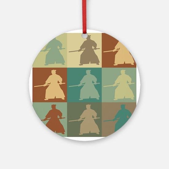 Aikido Pop Art Ornament (Round)