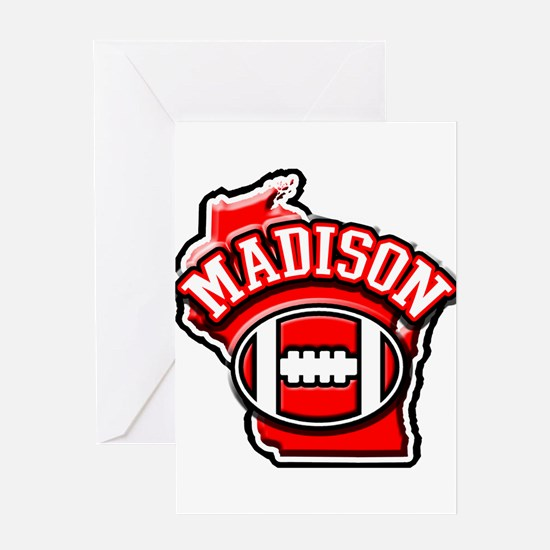 Madison Football Greeting Card