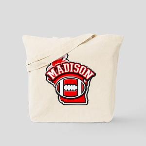 Madison Football Tote Bag