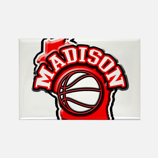 Madison Basketball Rectangle Magnet