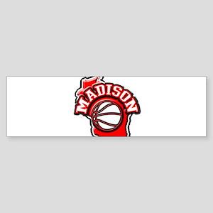 Madison Basketball Bumper Sticker