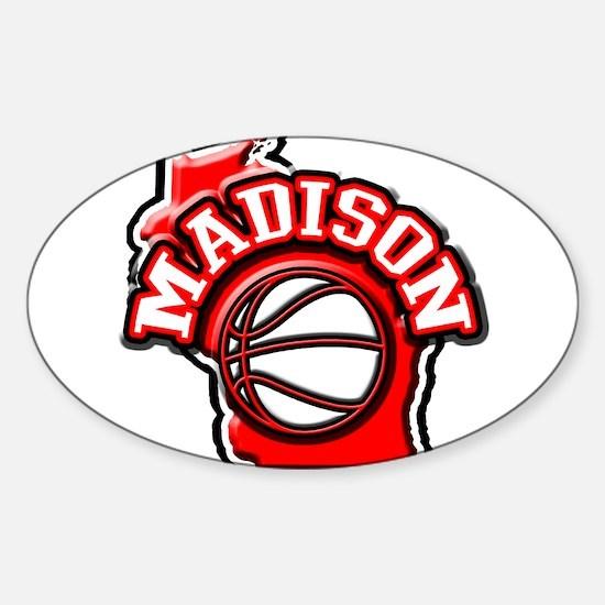 Madison Basketball Oval Decal