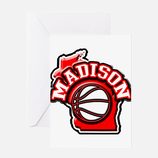 Madison Basketball Greeting Card