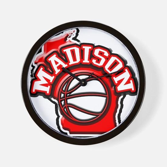 Madison Basketball Wall Clock