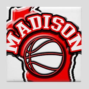 Madison Basketball Tile Coaster