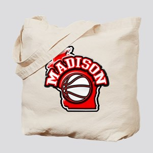 Madison Basketball Tote Bag