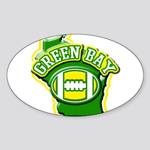 Green Bay Football Oval Sticker