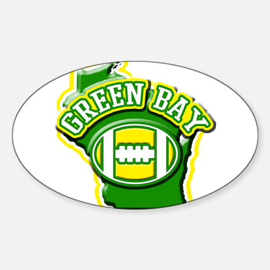 Green Bay Football Oval Decal