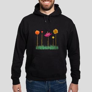 Flute Flowers Hoodie (dark)